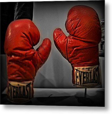 Muhammad Ali's Boxing Gloves Metal Print by Bill Cannon