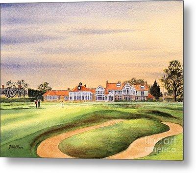 Muirfield Golf Course 18th Green Metal Print by Bill Holkham