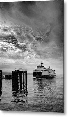 Mukilteo Ferry Metal Print by Bob Stevens
