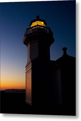 Metal Print featuring the photograph Mukilteo Light House Sunset by Sonya Lang
