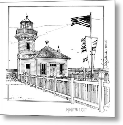 Mukilteo Light Metal Print