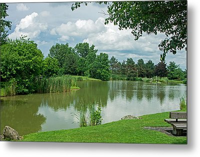 Muller Chapel Pond Ithaca College Metal Print by Photographic Arts And Design Studio