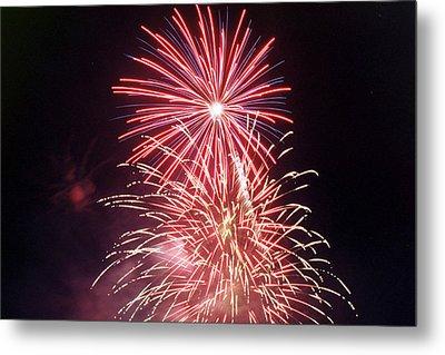 4th Of July Fireworks 1 Metal Print by Howard Tenke