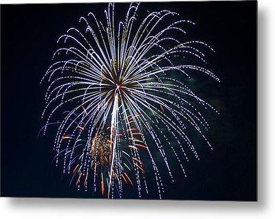 4th Of July Fireworks 12 Metal Print by Howard Tenke