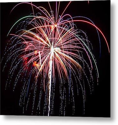 4th Of July Fireworks 20 Metal Print by Howard Tenke