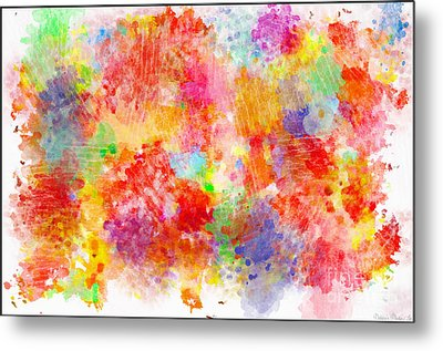 Multi Colored Ditgital Abstract 4 Metal Print by Debbie Portwood