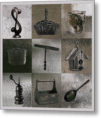 Multi Home Decor - 01v2f4c Metal Print by Variance Collections