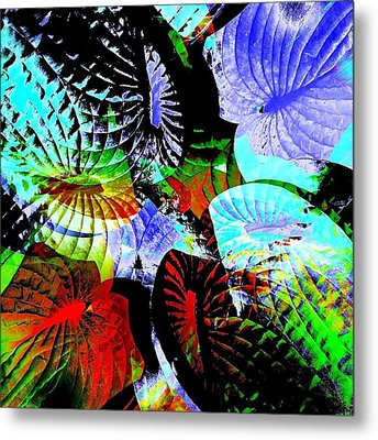 Multi Hosta Metal Print by Stephanie Aarons