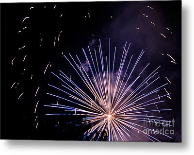 Multicolor Explosion Metal Print by Suzanne Luft