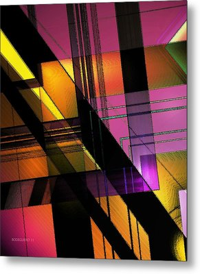 Multicolored Combination Art Metal Print by Mario Perez