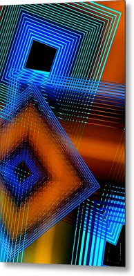 Multiple Lines On Geometrical Art Metal Print by Mario Perez