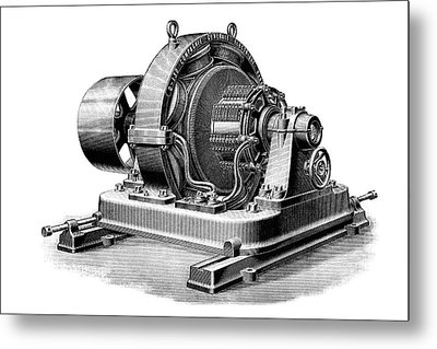 Multipolar Dynamo Metal Print by Science Photo Library