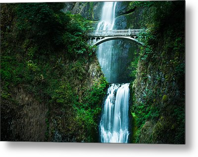 Metal Print featuring the photograph Multnomah Abbreviated by Brian Bonham