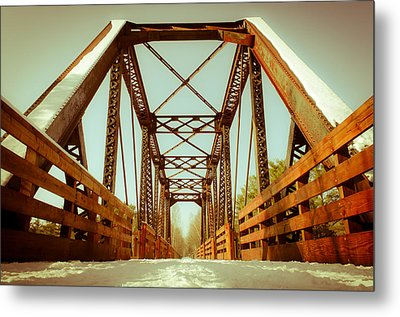 Metal Print featuring the photograph Munger Trail Crossing by Mark David Zahn