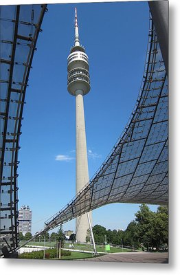 Metal Print featuring the photograph Munich Olympic Tower by Pema Hou