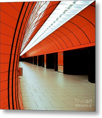 Munich Subway I Metal Print by Hannes Cmarits
