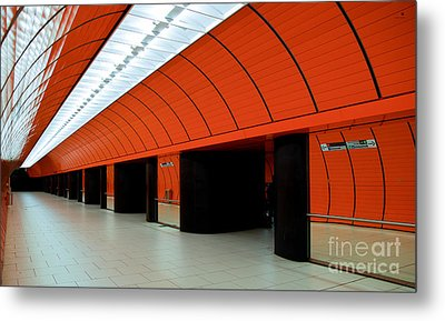 Munich Subway IIi Metal Print