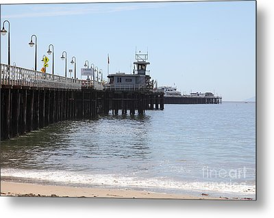 Municipal Wharf At The Santa Cruz Beach Boardwalk California 5d23767 Metal Print by Wingsdomain Art and Photography