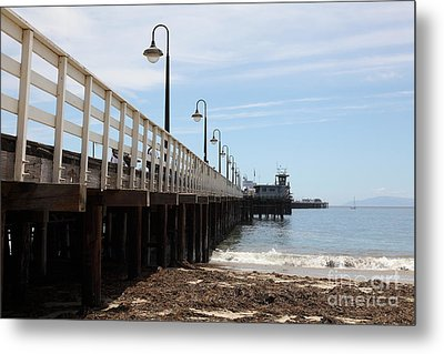 Municipal Wharf At The Santa Cruz Beach Boardwalk California 5d23768 Metal Print by Wingsdomain Art and Photography