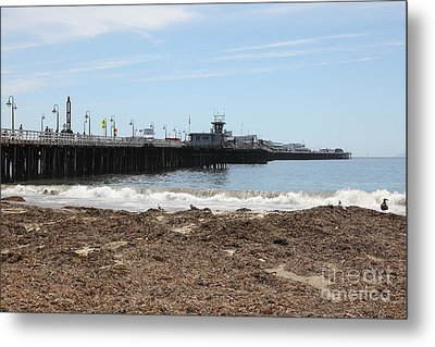 Municipal Wharf At The Santa Cruz Beach Boardwalk California 5d23769 Metal Print by Wingsdomain Art and Photography