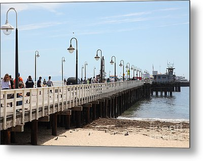 Municipal Wharf At The Santa Cruz Beach Boardwalk California 5d23773 Metal Print by Wingsdomain Art and Photography