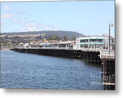 Municipal Wharf At The Santa Cruz Beach Boardwalk California 5d23813 Metal Print by Wingsdomain Art and Photography