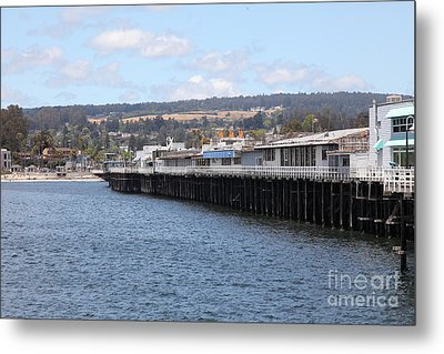 Municipal Wharf At The Santa Cruz Beach Boardwalk California 5d23815 Metal Print by Wingsdomain Art and Photography