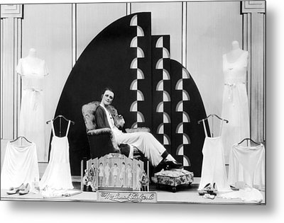 Munsing Wear Store Display Metal Print by Underwood Archives