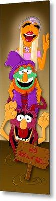 Muppet's Stretching Room Portrait #1 Metal Print by Lisa Leeman