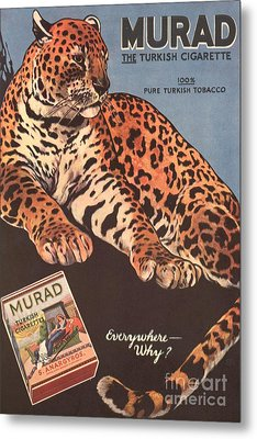Murad 1910s Usa Cigarettes Smoking Metal Print by The Advertising Archives