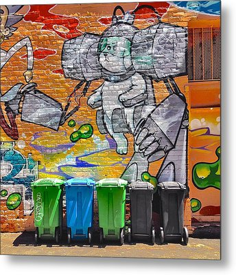 Mural And Bins Metal Print by Julie Gebhardt