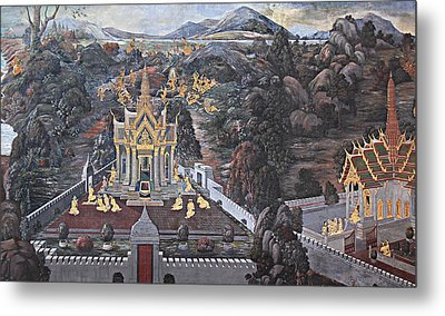 Mural - Grand Palace In Bangkok Thailand - 01132 Metal Print by DC Photographer