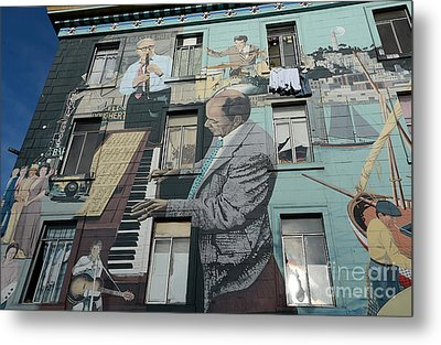 Mural In S F Metal Print by David Bearden