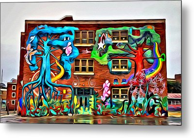 Mural On School Metal Print by Alice Gipson