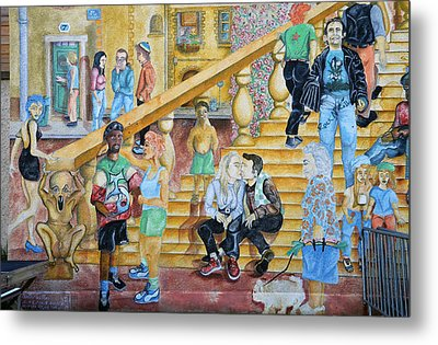 Mural Painting In Poitiers Metal Print by RicardMN Photography