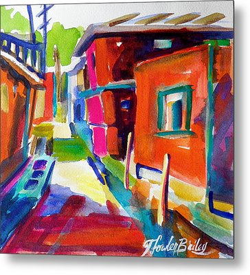 Murano Back Street Italy Metal Print by Therese Fowler-Bailey