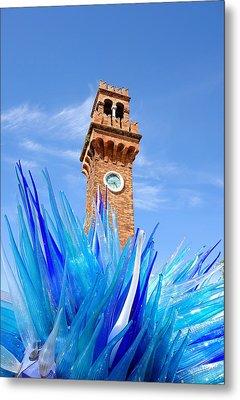 Murano Clock Tower Metal Print by Valentino Visentini