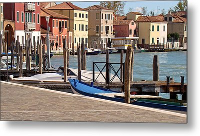 Metal Print featuring the photograph Murano Dock by Walter Fahmy