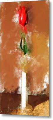 Murano Glass Tulip Metal Print by Yury Malkov