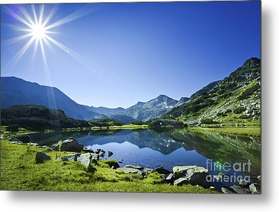 Muratov Lake Against Blue Sky Metal Print by Evgeny Kuklev
