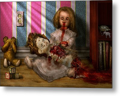Murder - Appetite For Blood Metal Print by Mike Savad