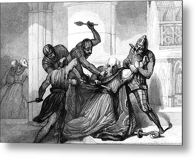 Murder Of Thomas Becket Metal Print