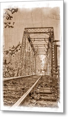 Murphy Trestle Metal Print by Debra and Dave Vanderlaan
