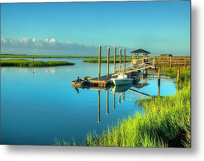 Metal Print featuring the photograph Murrells Inlet Dock by Ed Roberts