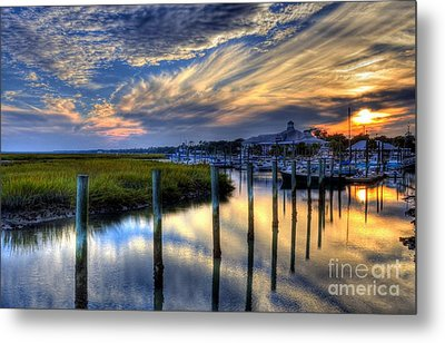 Murrells Inlet Sunset 1 Metal Print by Mel Steinhauer