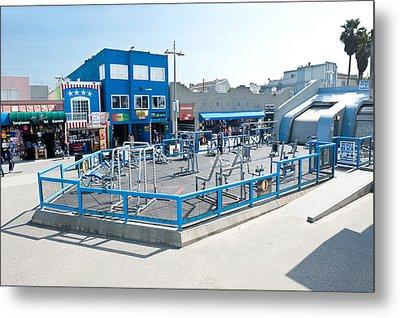 Muscle Beach Gym In Venice California Metal Print by Joe Belanger