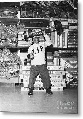 Muscle Man Metal Print by Dick Hanley