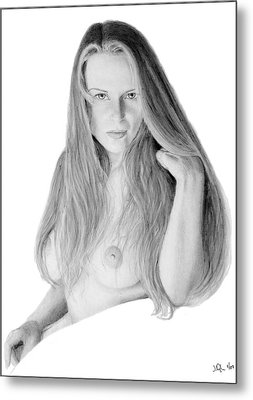 Metal Print featuring the pastel Muse by Joseph Ogle