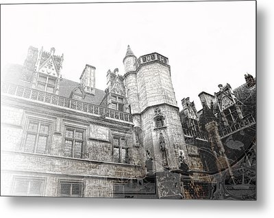 Musee De Cluny When The World Was Flat Metal Print by Evie Carrier
