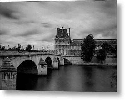 Musee Du Louvre And Pont Royal Metal Print